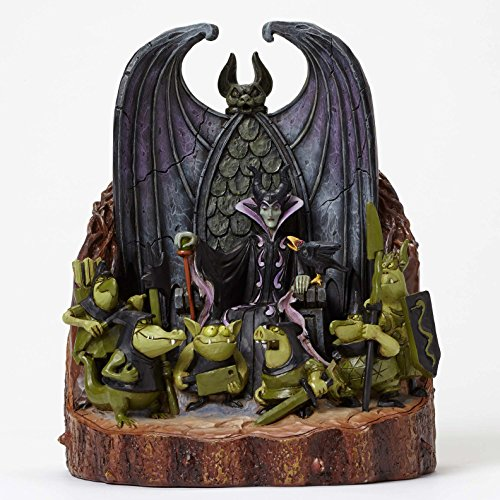 Enesco Gift Disney Traditions Maleficent Scene Carved by Heart