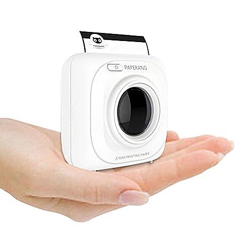 AOLVO Impresora fotográfica instantánea de Bolsillo inalámbrico Blanca Mini PAPERANG P1 portátil Bluetooth Instant Mobile Printer para ...