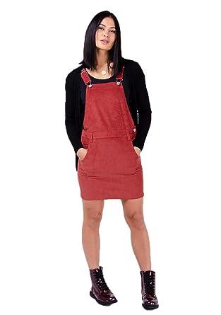 Wash Clothing Company Peto Falda de Corduroy - Rojo Vestido de ...