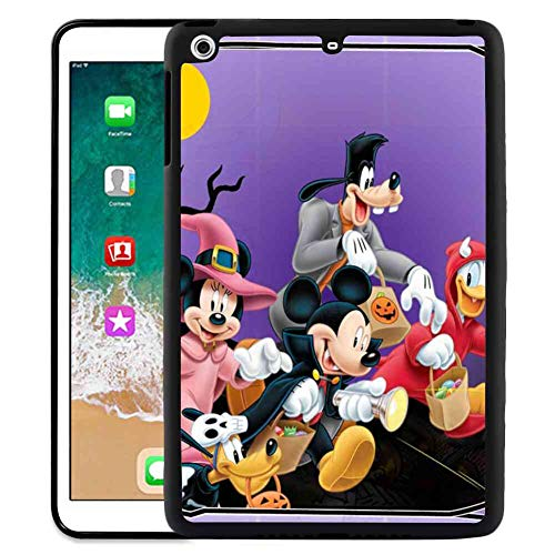 Hard Back Case Compatible iPad Pro 2018 9.7 Inch Halloween Mickey Mouse and Minnie Mouse Goofy Donald Duck Pluto Disney Halloween Wallpaper