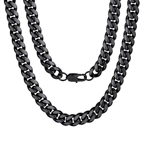 Mens Necklace Stainless Steel Cuban Chain Necklace 22 Inch Jewelry Gift