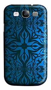 Samsung Galaxy S3 I9300 Case,Samsung Galaxy S3 I9300 Cases - Vintage Blue Pattern PC Polycarbonate Hard Case Back Cover for Samsung Galaxy S3 I9300
