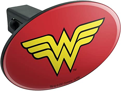Graphics and More Wonder Woman Wonder Woman Icons Logo Oval Tow Trailer Hitch Cover Plug Insert