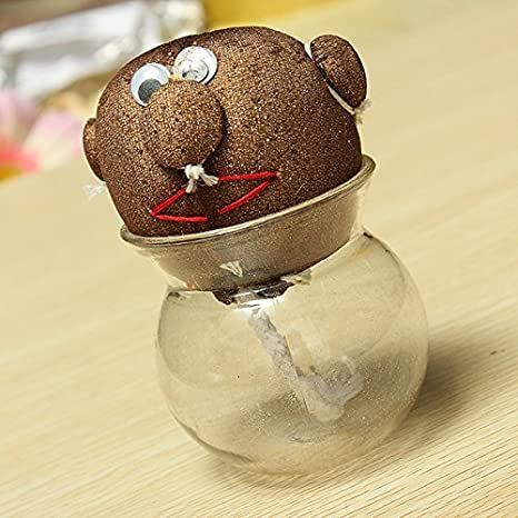 Amazon.com : Mini DIY Magic Grass Plant Pot Grass Head Doll Indoor ...