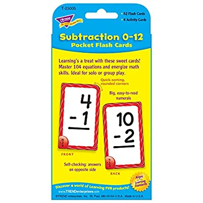 Subtraction Pocket Flash Cards: Toys & Games