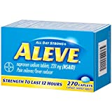 Aleve Caplets, Naproxen Sodium 220 mg (NSAID), Pain Reliever/Fever Reducer, #1 Orthopedic Surgeon Recommended, 270 Count