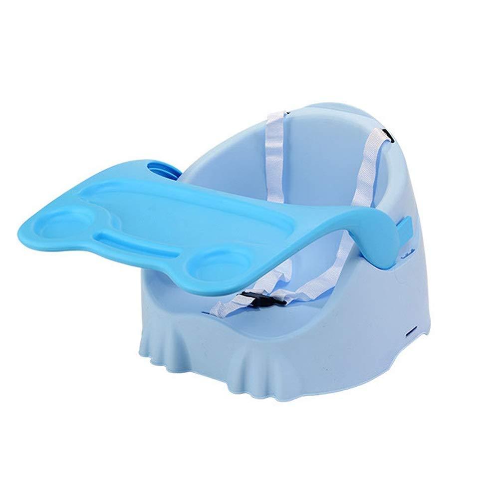 子供用ダイニングチェア 赤ちゃん折りたたみブースターチェアポータブルシート取り外し可能な調整可能なトレイ安全ベルト定常アンチスリップ安全快適 省スペース (色 : 青, サイズ : 39*37.5*40cm) 39*37.5*40cm 青 B07S8FWZHN