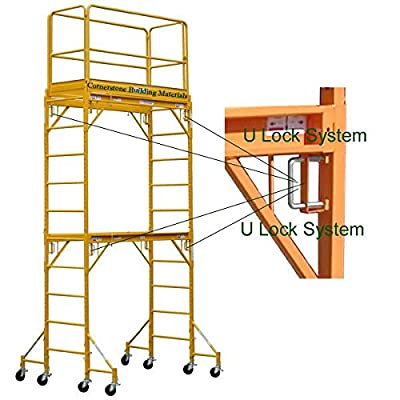 CBM scaffold Multipurpose Maxi Square Baker Style Scaffold Tower Package - 12ft., 1,000-Lb. Capacity, Model# 2MFSH