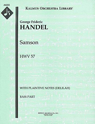 Samson, HWV 57 ): Bass part