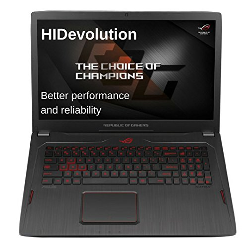 HIDevolution ASUS ROG Strix GL702ZC 17.3 inch Gaming Laptop | 3.0 GHz AMD RYZEN 7 1700, AMD Radeon RX 580, 32GB DDR4/2400MHz, SATA 256GB SSD + 1TB HDD | Authorized Performance Upgrades & Warranty