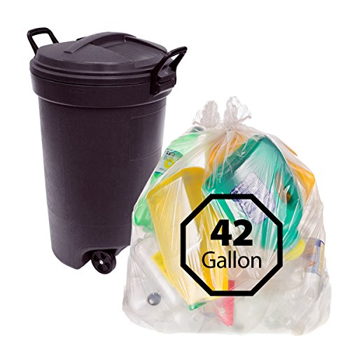 clear contractor bags 42 gallon trash bag by primode