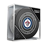Sher-Wood 2018 Round 1 & 2 Win Jets Official Game Puck 960T NHL Stanley Cup Playoffs, One Size, Black