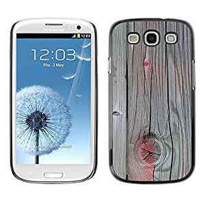 TopCaseStore Rubber Case Hard Cover Protection Skin for SAMSUNG GALAXY S3 & I9300 - accent grey wood paint cracked