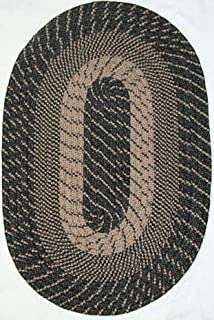 """product image for Constitution Rugs Plymouth Braided Rug in Black Sand (30"""" x 50"""" Oval) Made in New England"""