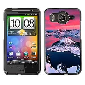 // PHONE CASE GIFT // Duro Estuche protector PC Cáscara Plástico Carcasa Funda Hard Protective Case for HTC G10 / Alaska Aurora Borealis /