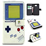 S7 Case, Galaxy S7 Wallet Leather Case,Maoerdo [Retro Gameboy] Built-in Card Slots Folio Flip Kickstand Feature Magnetic Premium Leather Wallet Case Cover for Samsung Galaxy S7