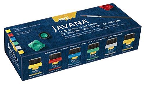 Javana 92250 - Textil Stoffmalfarben Glitter Creativ Set 6 x 20 ml