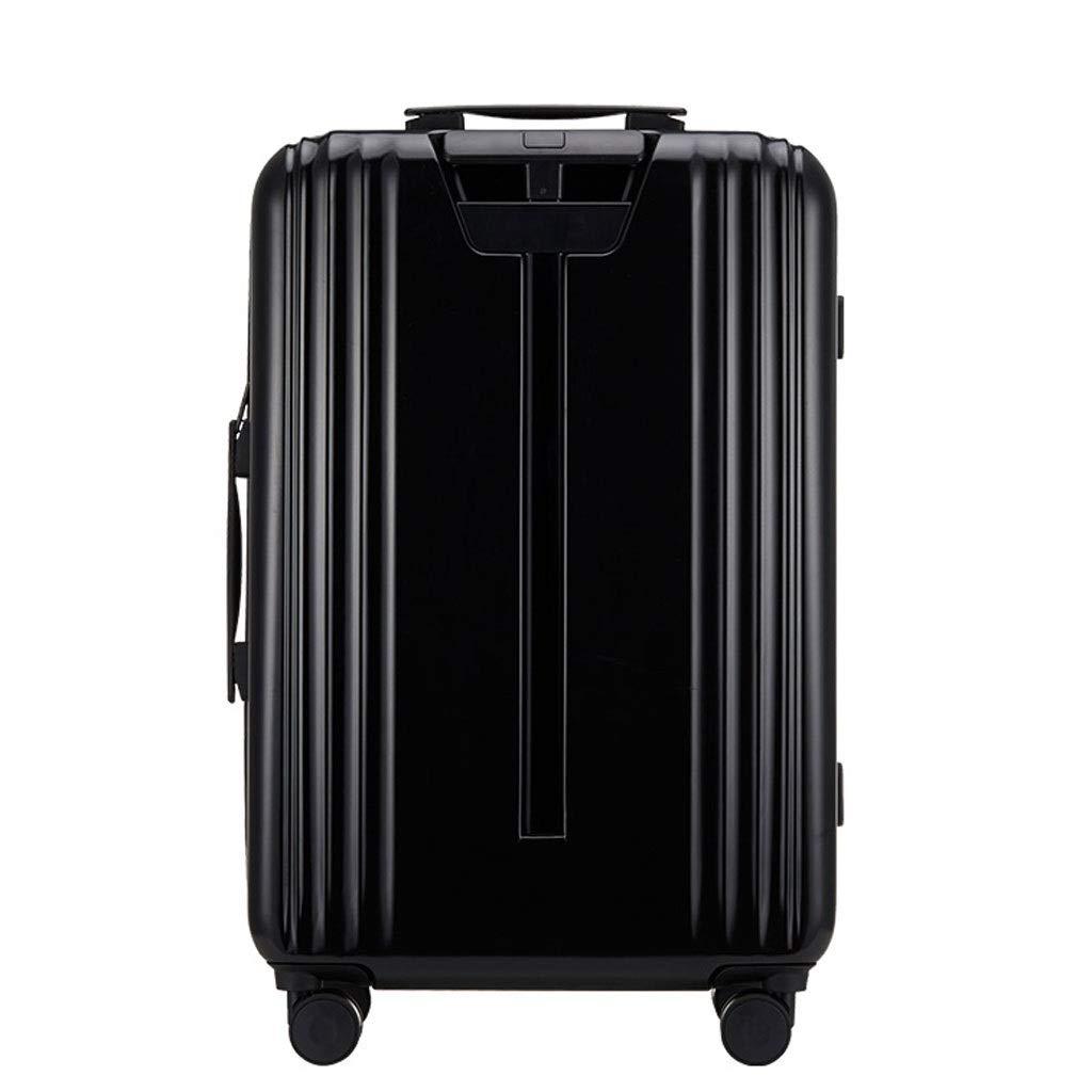 ZXXZ トロリーケース- 男性と女性20インチ搭乗スーツケース、ユニバーサルホイールビジネスパスワードボックストロリーケース24/26インチ (Color : Black, Size : 26in) B07V14LY7Q Black 26in