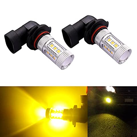 DunGu 9145 H10 LED Fog Driving Lights Bulbs Canbus Epistar Projector Golden Yellow (Pack of 2) - 9145 Bulb