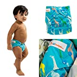 Lil Helper Cloth Diapers Charcoal Giraffes Printed Baby Nappy Ships from NY USA