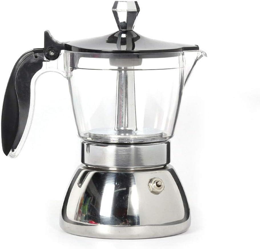 ZHJIUXING DQ Actualizar Acero Inoxidable Cafetera Italiana, Transparente Lavable Cafetera Espressos, Filtro de Goteo ...
