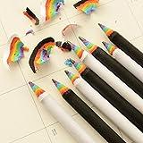 Rainbow Pencils, Tuscom Black& White Wood Pencils Set,School Office Stationery Gift,17.4×0.7CM (White)