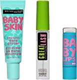 Maybelline New York NY Minute Makeup Kit, No Makeup Makeup Kit, Primer Gloss Mascara Makeup Set