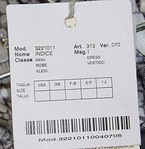 Marina Rinaldi MaxMara Indice Medium Gray Graphic Short Sleeve Dress at Amazon Womens Clothing store: