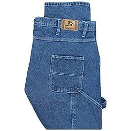 Full Blue Big Men's Carpenter Denim Jeans Pants Medium Blue #596A