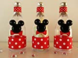 12 Mickey Mouse Fillable Champagne Bottles Baby Shower Favors Prizes Games Décor