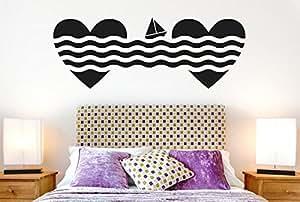 La Vela diseño de corazones interior adhesivo de pared hogar vinilo adhesivo Mural de Dormitorio Salón decoración
