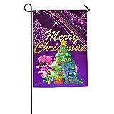 Yex Stitch Merry Christmas Decorative Garden Flag House Banner