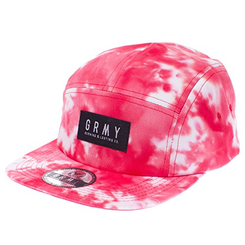 GRIMEY Gorra 5 Panels Godly Beings SS16 Red Tie Dye-Strapback ...