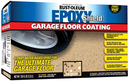 Industrial Epoxy Paint - RustOleum 251966 Epoxy Floor Coating Kit - Tan Gloss