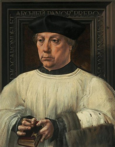 1525 Mint (High Quality Polyster Canvas ,the Imitations Art DecorativeCanvas Prints Of Oil Painting 'Jan Gossart,Portrait Of Jean De Carondelet,1525-1530', 30x38 Inch / 76x97 Cm Is Best For Study Decor And Home Artwork And Gifts)