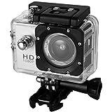 Digital Action Underwater Waterproof Sports Camera Cam Camcorders Wifi HD 1080P 30fps 12MP 170 Degree Wide Angle and Helmet Accessories Kit- Waterproof 100ft