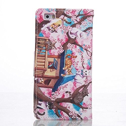 ikasus - Cartera de mano para hombre Purple Galaxy Pink Cherry Blossoms Cat