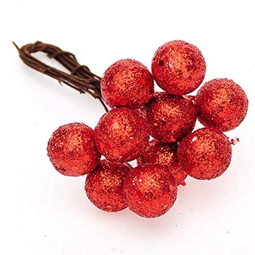 MEIZOKEN 50Pcs Christmas Tree Baubles Red Sliver Gold Hanging Balls Pendant Ornament Party Xmas Decoration ()