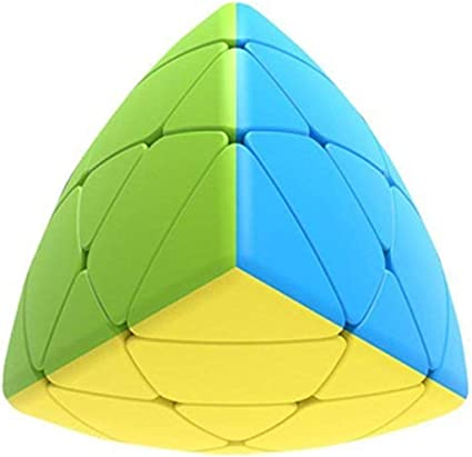 vGRASSP Pyramorphix Cube Game for Kids & Adults (Stickerless Pyramid Cube - Multicolour)