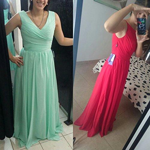Kleid Falte 01 A Grün Abendkleid Langes Kleid Aiyana Stile Brautjungfer Zwei Chiffon Prom Linie Gr¨¹n X6nXz8x
