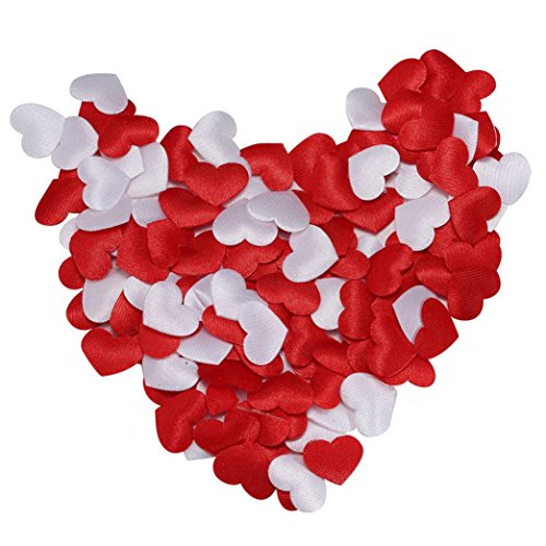 Binmer(TM) Heart Confetti Polyester Fabric Heart Birthday Wedding Valentine's Day Party Confetti Decoration 200Pcs/400Pcs 2018 Event & Party Supplies (400Pcs)