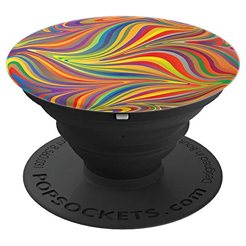 Colorful Rainbow Swirl Phone Pop Up Socket Red Yellow Purple - PopSockets Grip and Stand for Phones and Tablets