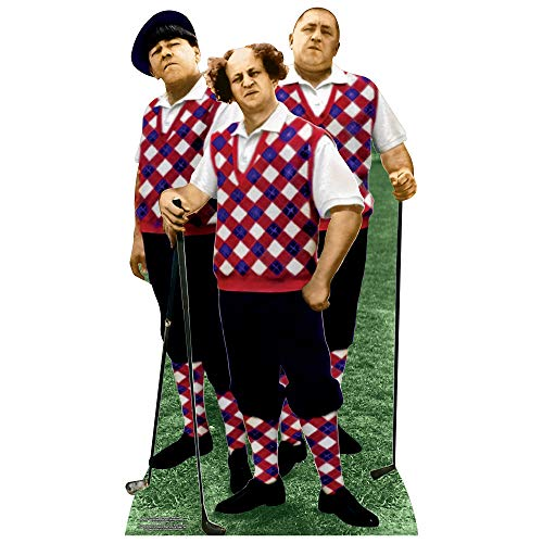 Three Stooges - Golfing - Lifesize Cardboard Cutout
