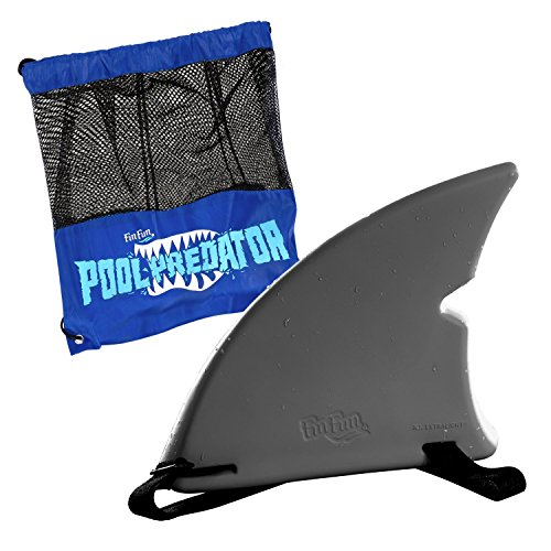 Shark Fin for Swimming and Costume by Fin Fun - Gray (Swimming Pool Shark)