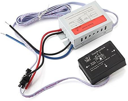 AC170/V//240/V ON//OFF Miroir de salle de bains Interrupteur tactile xd-621/isol/ée pour lampe