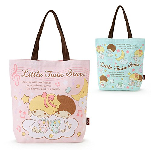 Sanrio Little Twin Stars reach tote bag starry sky dance pink From Japan - Shopping Houston District