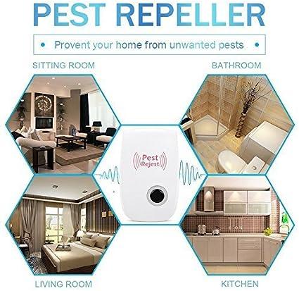 GLDS - Repelente de plagas ultrasónico con control de plagas – repelente de ratas y ratas en repelente de plagas – repelente de insectos para hormigón, mosquito, micrófono, pulgas y huellas, araña,