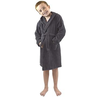 Children Dressing Gown Kids Boys Girls Hooded Towelling Bathrobe 100
