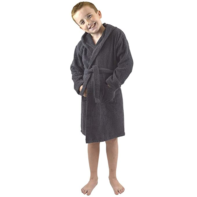Children Dressing Gown Kids Boys Girls Hooded Towelling Bathrobe 100% Cotton  Terry Towel Soft Towlling 7-13 Years  Amazon.co.uk  Clothing 986befb16