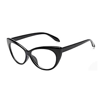 cc1ad04d4b Image Unavailable. Image not available for. Color  Women Sunglasses Fashion  Ladies Cat Eye Vintage Style Rockabilly Sunglasses Eye Glasses ...